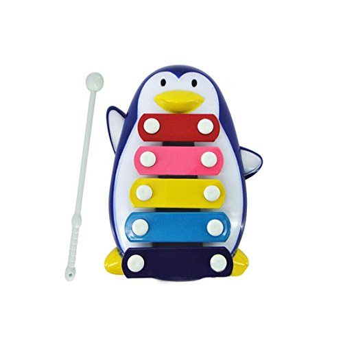 Baby Musical Toys,Hemlock Toddler Wisdom Development Toys Kids 5-Note Xylophone Music Toys (Blue)