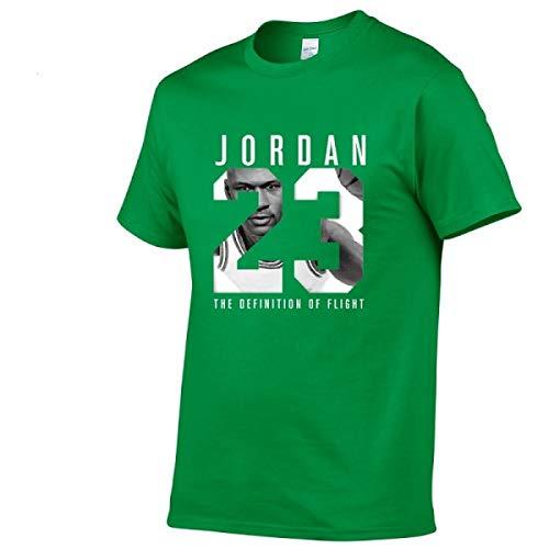 (Jordan t Shirts Jordan 23 Men T-Shirt Swag T-Shirt Cotton Print Men T Shirt Green)