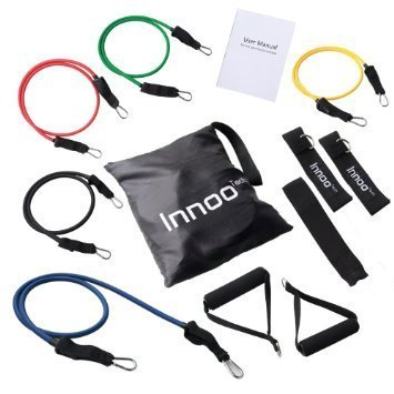 Resistance Band Set – 11 PCS Fitness Resistance Bands Set Workout With Exercise Tubes, Door Anchor, Ankle Straps, And Handles For Legs, Weight Loss Or Body Building – Perfect for Home & Travel Gym Review