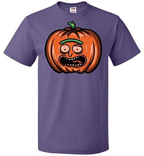 Halloween Pumpkin Rick Adult Unisex T-Shirt Adult Pop