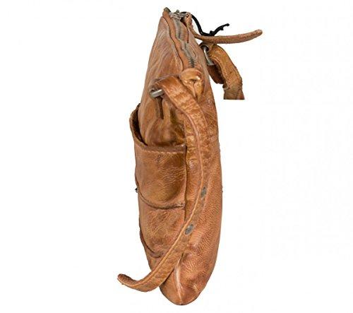 FREDsBRUDER Little Secret kleine Umhängetasche aus weichem Leder caramel (24 x 18 x 2 cm)