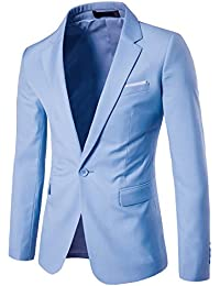 "<span class=""a-offscreen"">[Sponsored]</span>Men's Suit Jacket One Button Slim Fit Sport Coat Business Daily Blazer"