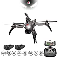 HIOTECH MJX Bugs 3 Pro GPS Quadcopter Drone Brushless Motor Remote Control Drone with 4K 1080P Sports Camera for Adults Beginners (Bugs 5W)