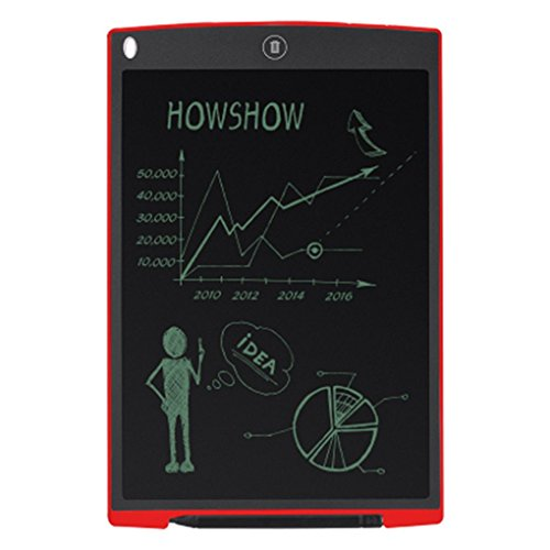 Tralntion Portable 12 Inch Digital LCD Handwriting Drawing Tablet Graphic Board Notepad Mouse Pad for Children Early Teaching