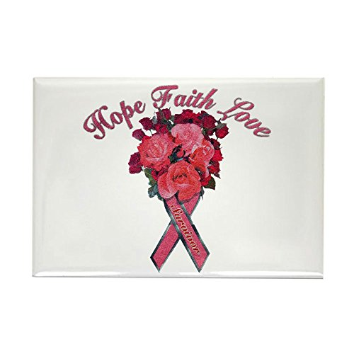Rectangle Magnet Cancer Pink Ribbon Survivor -