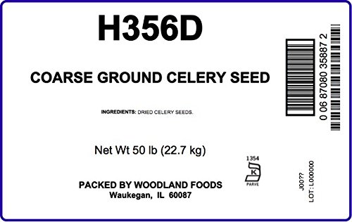 Celery Seed, Coarse Ground, 50 LB Bag by Woodland Ingredients (Image #2)