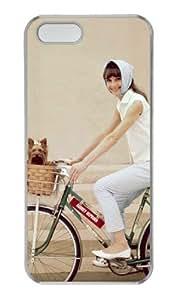 Audrey Hepburn Custom iPhone 5 5S case PC transparent, case for iPhone 5 5S by vipcustomonline