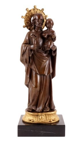 Bronze figure - Joseph holding the Jesus child - Adolph Alexander Weinman from Kunst & Ambiente