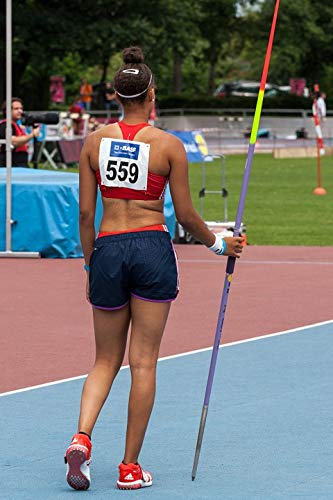 Home Comforts Peel-n-Stick Poster of Athletics Sport Javelin Throw Vivid Imagery Poster 24 x 16 Adhesive Sticker Poster Print