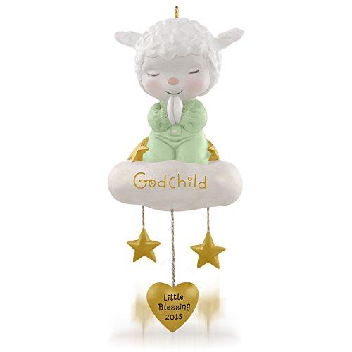 Hallmark Keepsake Ornament: Sweet Little Lamb of Faith Godchild (Ornaments Lamb)