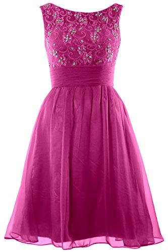 Wedding Boat MACloth Lace Neck Short Beading Dress Fuchsia Bridesmaid Homecoming Women YrYWTZ5