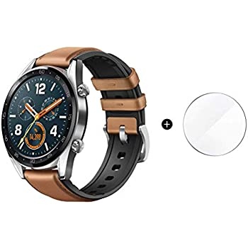 1c3d71d2825e Huawei Watch GT 2018 Bluetooth SmartWatch,Ultra-Thin Longer Lasting Battery  Life,Compatible with iPhone and Android (Steel (Leather Strap)) Contains  SUNG-LL ...