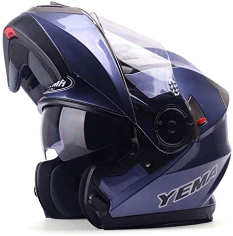 NJ ヘルメット- オートバイの機関車のヘルメットの男性と女性の四季ダブルレンズオープンフェイスヘルメット防曇ヘルメット (Color : Jasmine gray, Size : XXL)