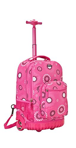 Rockland Luggage 19 Inch Rolling Backpack Printed, Pink Pearl, Medium by Rockland