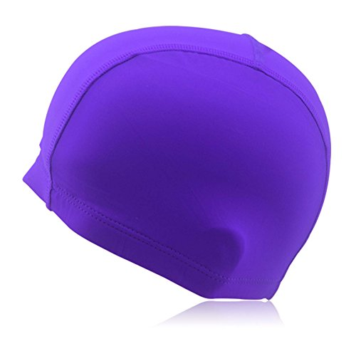 Stoffbadekappe »Guppy« Unisex aus langlebigem Qualitäts-Guppystoff, sehr elastisch, passt sich jeder Kopfform perfekt an, lila