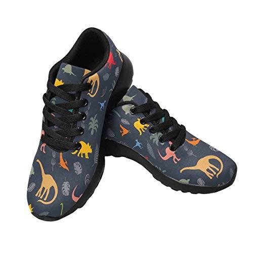 Trail Silhouettes InterestPrint Running Trainer Dinosaur 6 Design Women's Cross Sneakers qwwn0tAT
