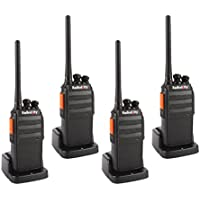 Radioddity R2 400-470MHz. Two Way Radio with 16 Channels ,96 Hours Super Long Standby VOX Scrambler,1200Ma Li-ion Battery Granular Sensation Walkie Talkie (Pack of 4)