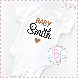 Personalised Baby Vest, unisex Onsie, Embroidered Design, New arrival Clothes, Bodysuit