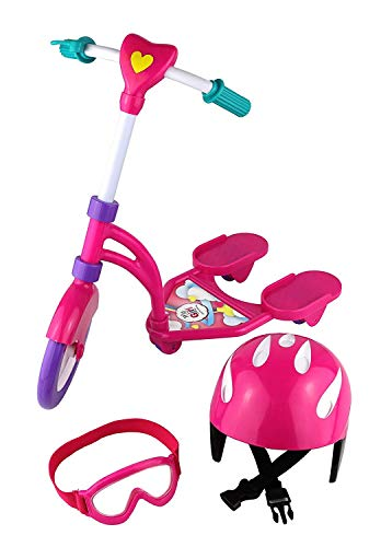 Click N' Play Doll Scooter and Helmet Set, Perfect for 18 inch American Girl Dolls (Doll Scooter)