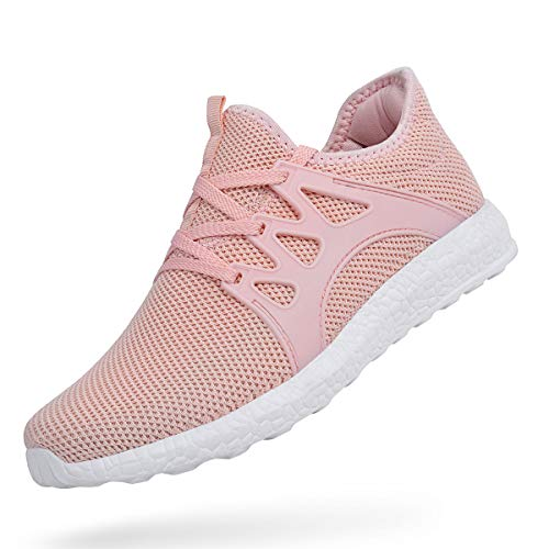 - ZOCAVIA Womens Running Shoes Lightweight Breathable Mesh Gym Sneakers Pink 9