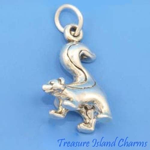 Skunk Animal 3D 925 Solid Sterling Silver Charm Pendant Crafting Key Chain Bracelet Necklace Jewelry Accessories Pendants -