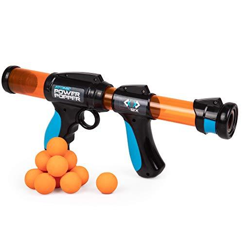 Atomic Power Popper 12X - Rapid Fire Foam Ball Blaster Gun - Shoots Up to 12 Foam Balls - 4+