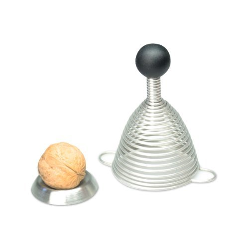 Naomi Nut Cracker, with Spiral Spring, Stainless Steel, Silicone-German Made by Take 2