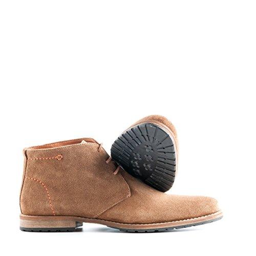 Travelin Liverpool Wildleder Chukka Boots | Schnürhalbschuhe Herren | Freizeitschuhe Hochzeitschuhe | Business Schuhe Anzugschuhe | Cognac 41 EU