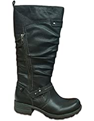 Earth New Origins Womens Betsy Boots Black Americana