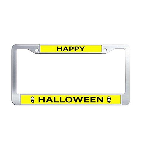 Nuoousol Luxury Happy Halloween Auto License Plate Frame,