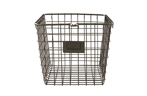 Spectrum Diversified Wire Storage Basket, Small, Industrial Gray -