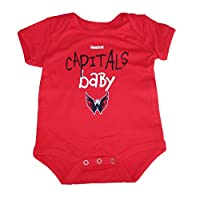 Washington Capitals CAPITALS BABY Infant Onesie Size 0-3 Months Bodysuit Creeper - Red