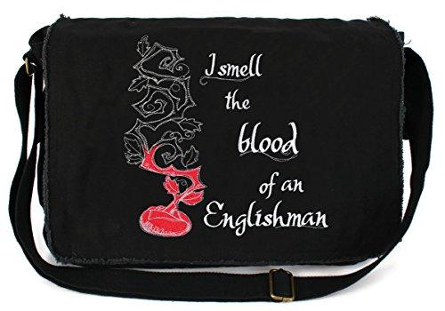 agic Beanstalk Embroidered Black Messenger Bag (Giant Messenger Bag)