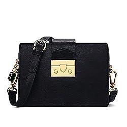 Tata Trend 2019 Winter Genuine Leather Shoulder Bag Women Crossbody Bags Anti Thief Women Bags Small Flap Messenger Bag Mini Black