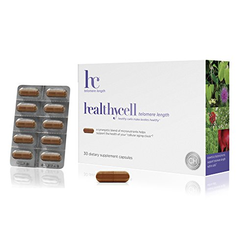 41TEy7pKcTL - Healthycell Telomere Length Supplement with AC-11 - Supports Lengthening of Telomeres Safely Through DNA Repair - Anti Aging Product for Healthy Aging - Cell Health - Lifespan - Stem Cell - Non-GMO