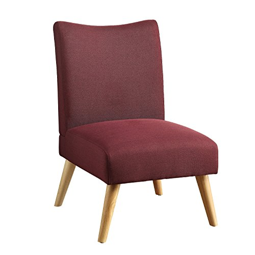 Price comparison product image Furniture of America Lompton Mid-Century Modern Linen Accent Chair Purple