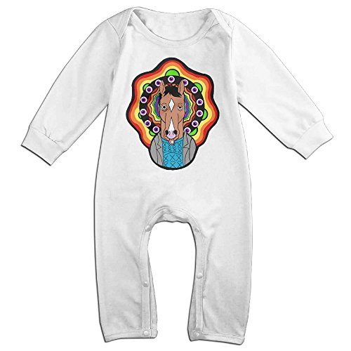 HOHOE Babys Cartoon Cute Horse Long Sleeve Bodysuit Outfits White 18 Months - Bill Cosby Costume