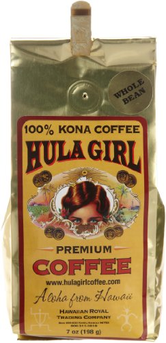 Hula Girl 100% Kona Coffee Wb, 7-Ounce (Pack of 2)