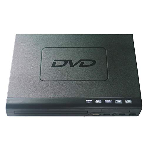 DVD Player for TV,Compact VCD/CD/DVD/Disc Players with Remote Control and Built-in PAL/ NTSC System, USB Input MP3 Play (Black)