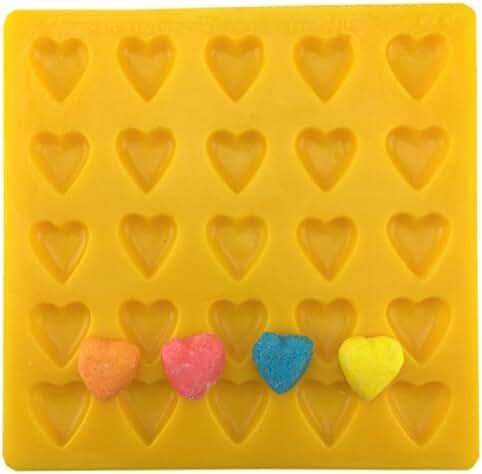 Guttman Heart, Yellow, Flexible, Soft Candy Mold used as Cream Cheese Mint Mold, Buttercream Mold, Fondant Mold, Marzipan Mold, Chocolate Mold, Fudge Mold, Caramel Mold and Butter Mold