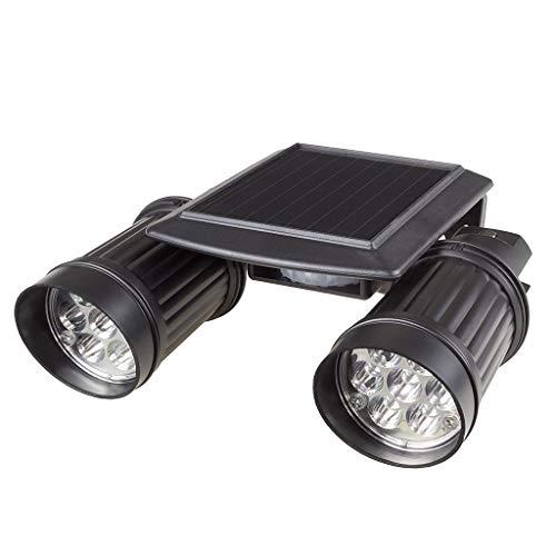 Iulove Waterproof 14 LED Solar PIR Sensor Spotlight 2 Head Garden Garage Wall Lamp IP65