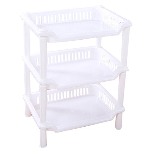 Sunward Free Standing Bathroom or Shower Storage Shelves,Accessories - 3 Tier (3 Squares Kitchen Shower)