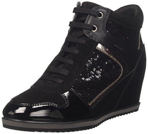 Hautes Noir Geox Sneakers B Femme Black Illusion wgXtXq1T8