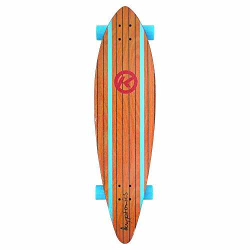 Kryptonics Surf City Pintail Longboard Complete Skateboard, 37 x 9.5-Inch ()