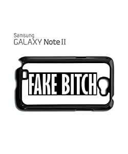 Fake B*itch Cool Vintage Mobile Cell Phone Case Samsung Note 2 Black