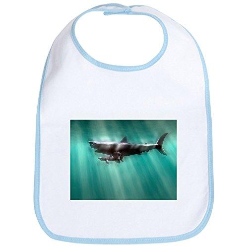 CafePress - Megalodon shark and great white - Bib - Cute Cloth Baby Bib, Toddler (Carcharodon Megalodon Shark)