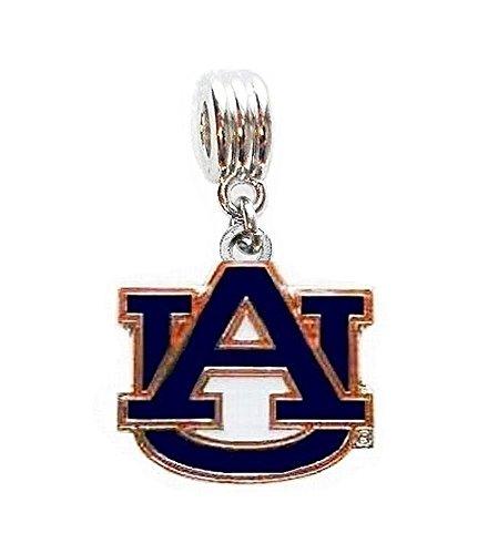 AU AUBURN UNIVERSITY TIGERS CHARM SLIDER PENDANT ADD TO YOUR NECKLACE, EUROPEAN BRACELET, DIY, - Auburn University Tigers Au