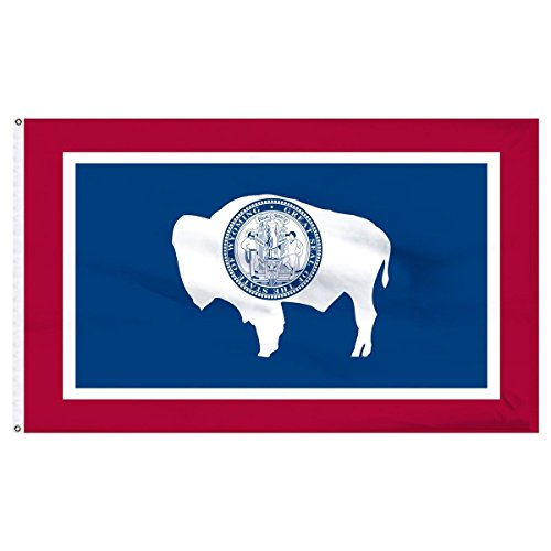 3X5 State Of Wyoming Flag 3'X5' House Banner Super Polyester Grommets Premium