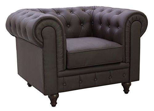 US Pride Furniture S5069-C Bonded Leather Chesterfield Sofa Set, - Chesterfield Us