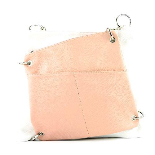 Weiß Messenger cuir sac 2in1 bandoulière modamoda sac NT07 en dames à ital sac en Rosa cuir sac de U0cqaxwfg